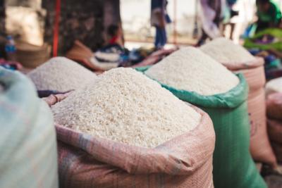 Rice at the morning market Luang Prabang